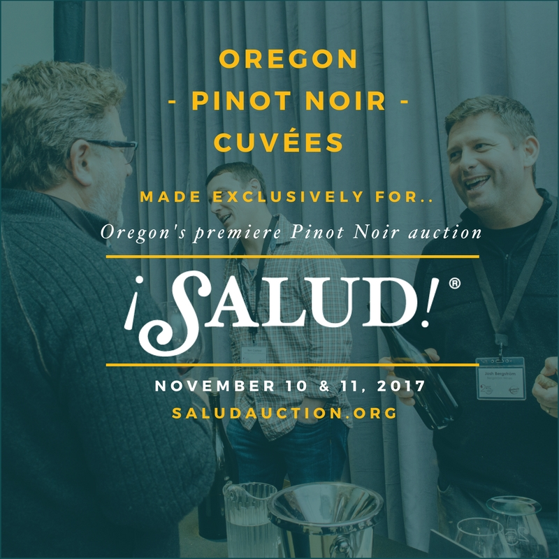 ¡Salud! Pinot Noir Auction 2017 flier