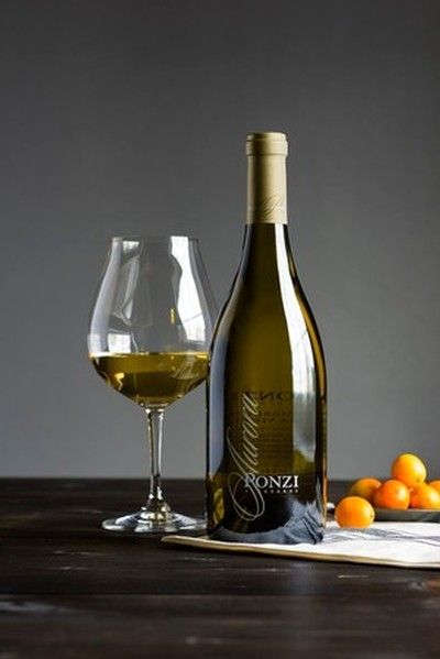 Bottle shot of the 2014 Ponzi Aurora Chardonnay