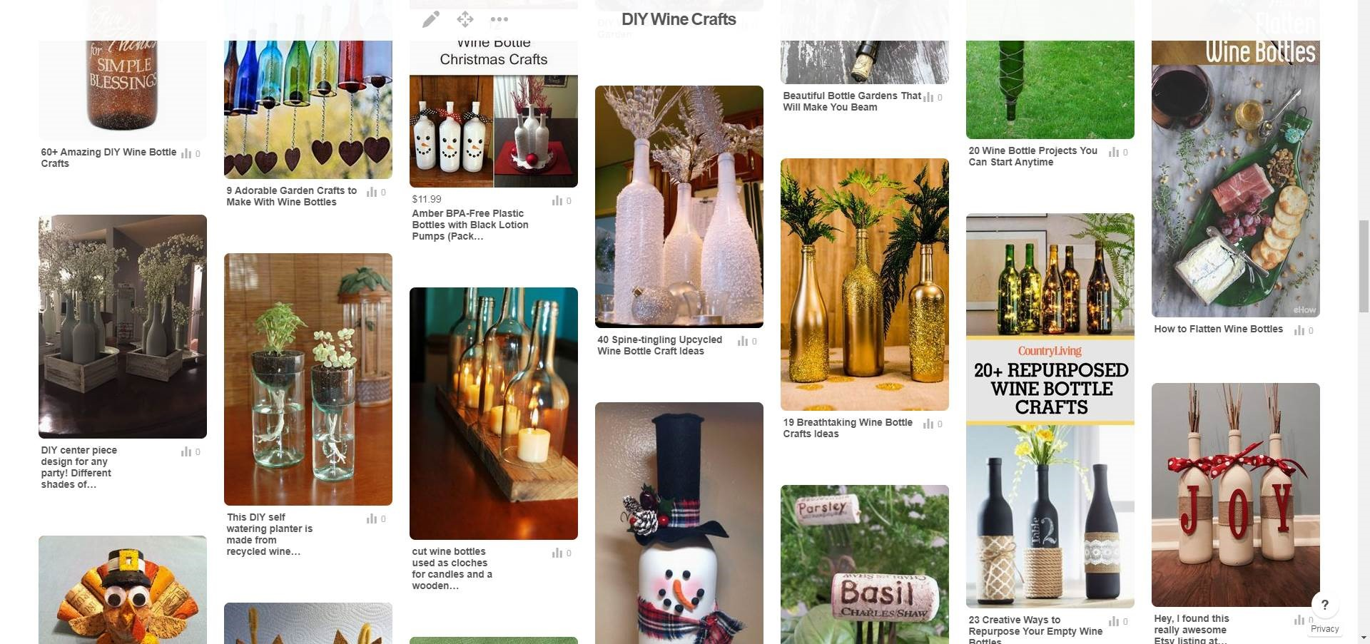 Pinterest board for diy wine packaging recycling