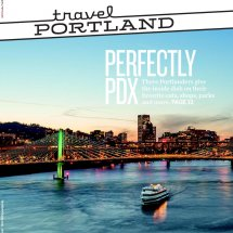 Perfectly PDX flier with Portland skyline
