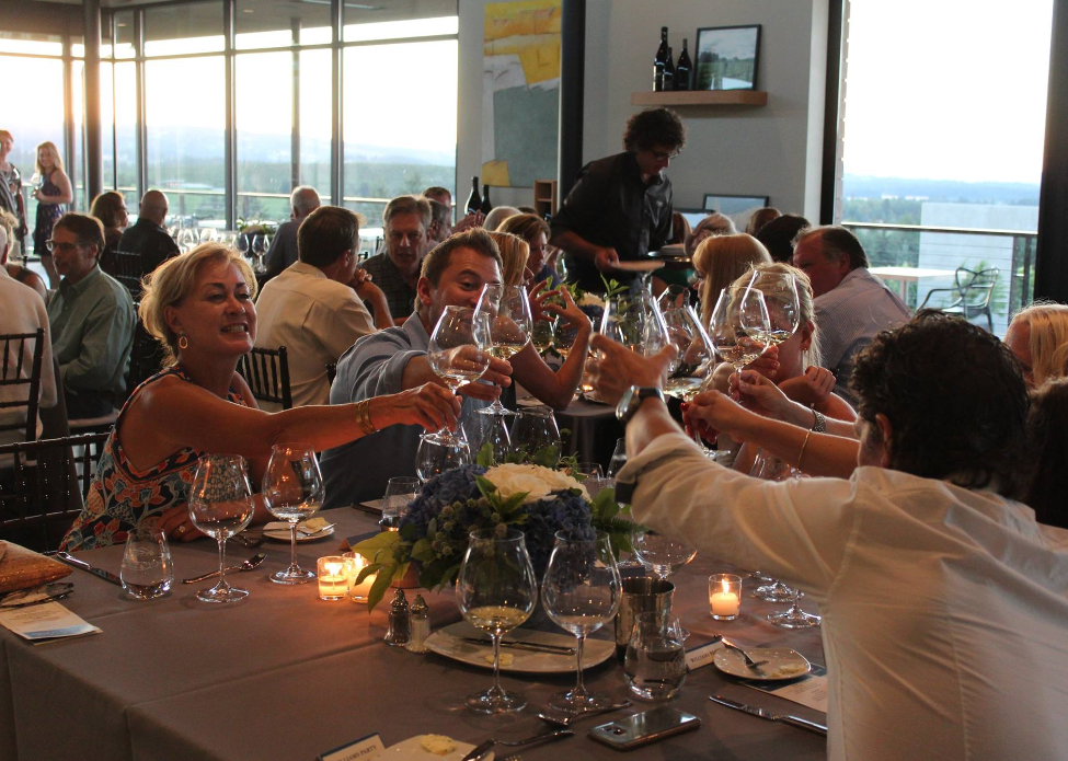 A toast to women in wine in the Ponzi tasting room