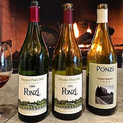 vintage Pinot noirs