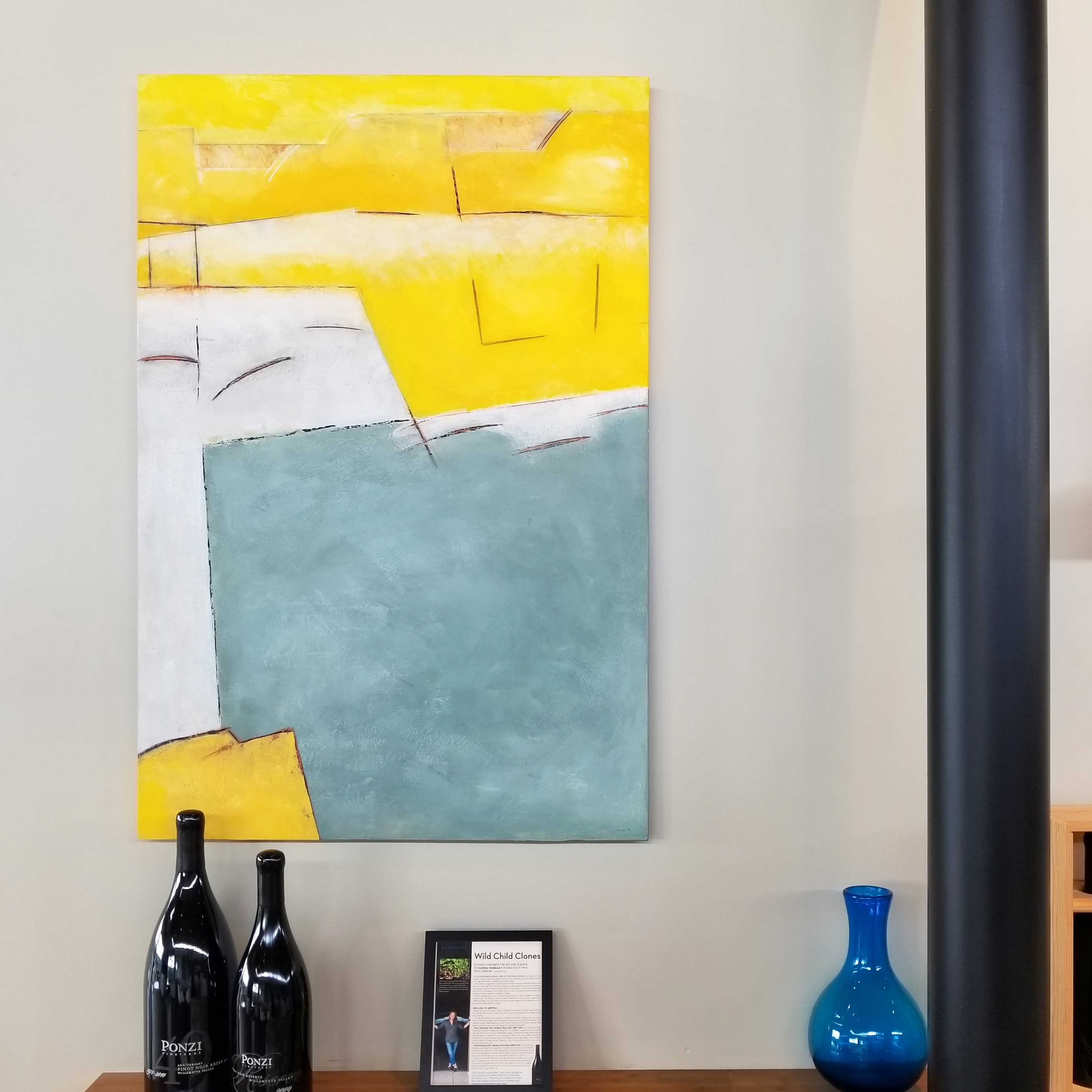 painting in the Ponzi Vineyards tasting room