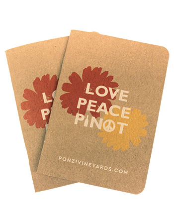 Love Peace Pinot Notebook